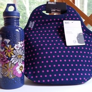 NWT Vera Bradley Water Bottle/Built NY Lunch Tote